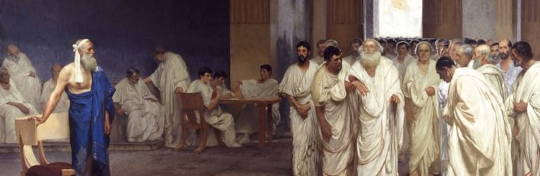Appio Claudio cieco al senato (affresco di Cesare Maccari – Palazzo Madama – Roma)
